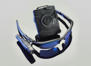 TASER International's AXON flex™ On-Officer Police Camera system with Controller, wearable Camera on Oakley® Flak Jacket Glasses
