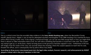Forensic video enhancement sample